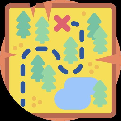 mapa del tesoro  icono gratis