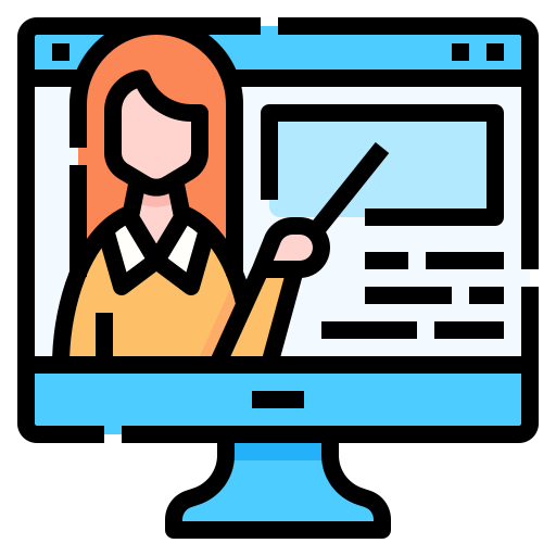 Video lecture  free icon