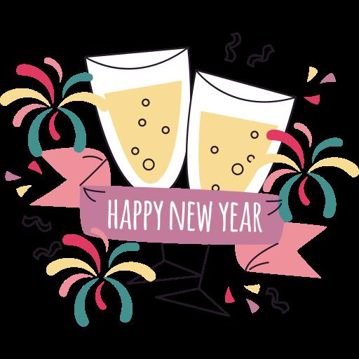 feliz año nuevo  gratis sticker
