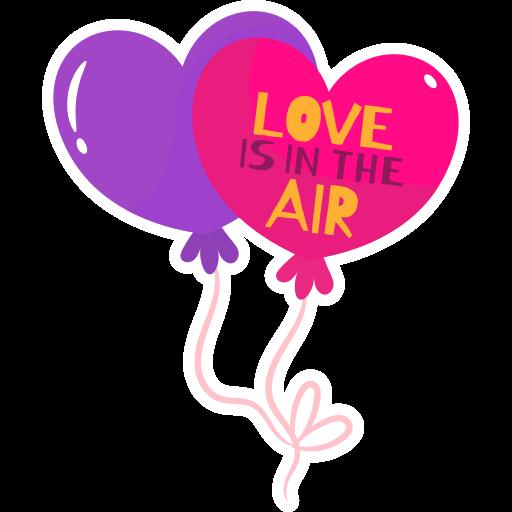 o amor está no ar  grátis figurinha
