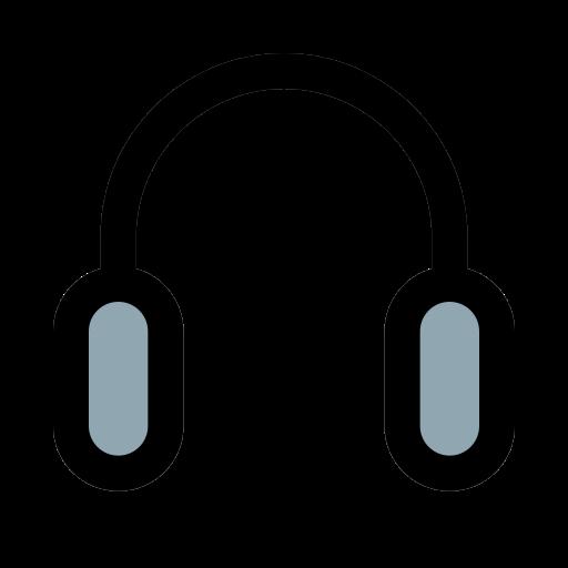 auriculares con sonido  icono gratis