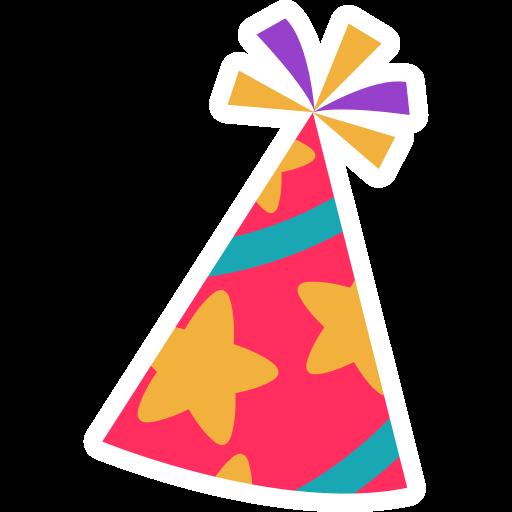 chapéu de festa  grátis figurinha