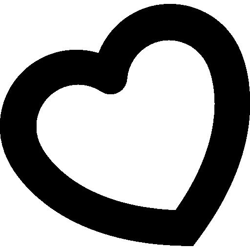 symbole de forme de coeur tourné  Icône gratuit