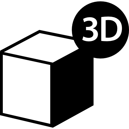 3d printer cube symbol  free icon