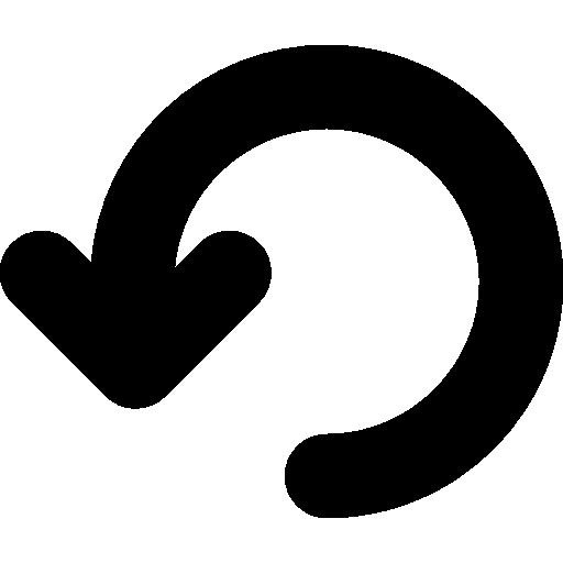 kreispfeil rückgängig machen  kostenlos Icon