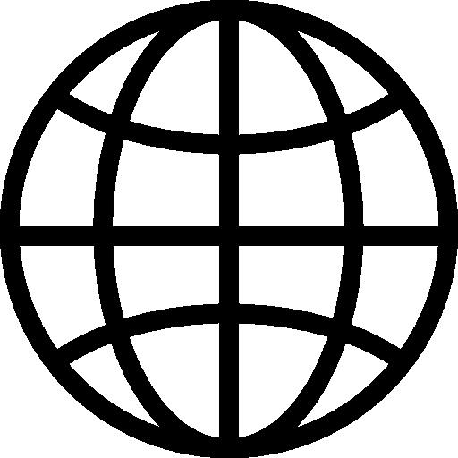 símbolo de la rejilla de la tierra  icono gratis
