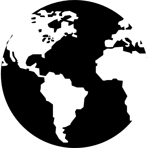 Earth with continents  free icon