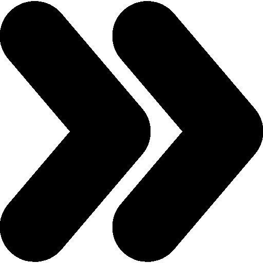 pointes de flèche droite  Icône gratuit