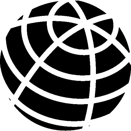 Earth grid symbol  free icon