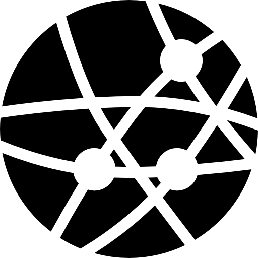 Earth with dots and lines of connections of business  free icon