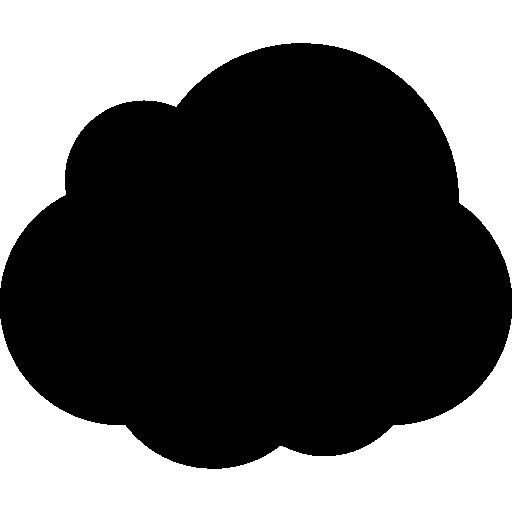 forme de nuage sombre  Icône gratuit