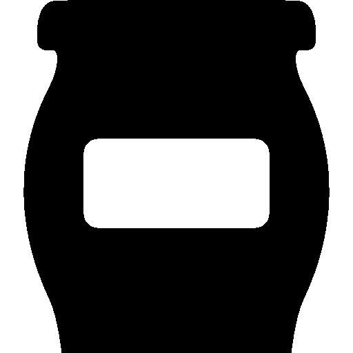 Чаша или фляга с пустой этикеткой для кухни для хранения продуктов  бесплатно иконка