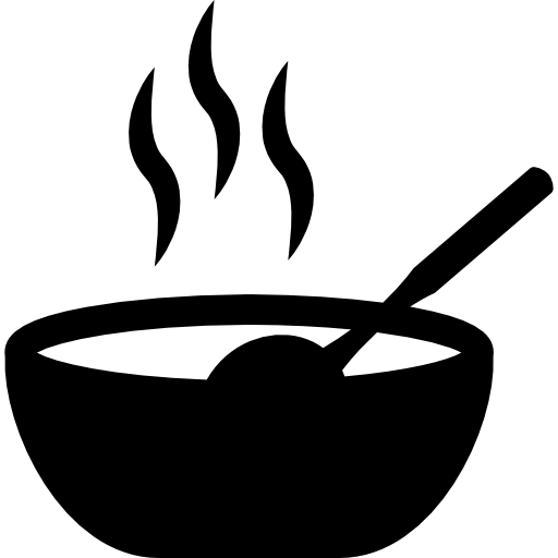 Hot food in a bowl  free icon