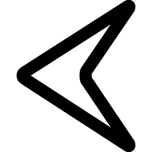 contour de la pointe de flèche gauche  Icône gratuit