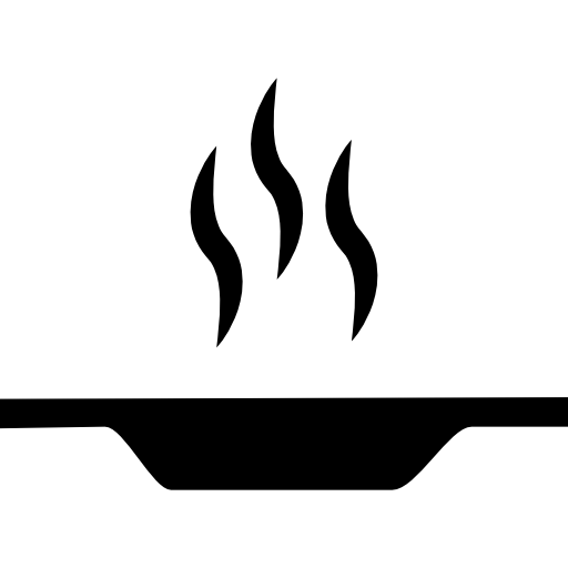 Flat plate with hot food from side view  free icon