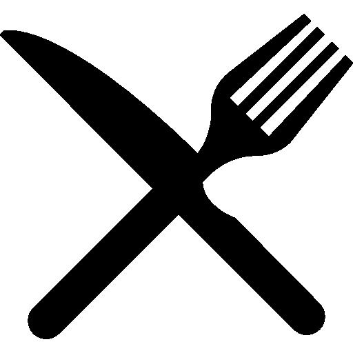 gabel und messer im kreuz  kostenlos Icon