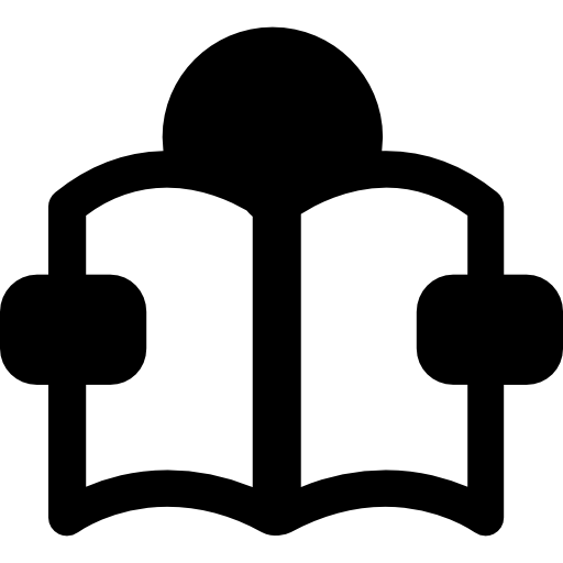Person learning by reading  free icon
