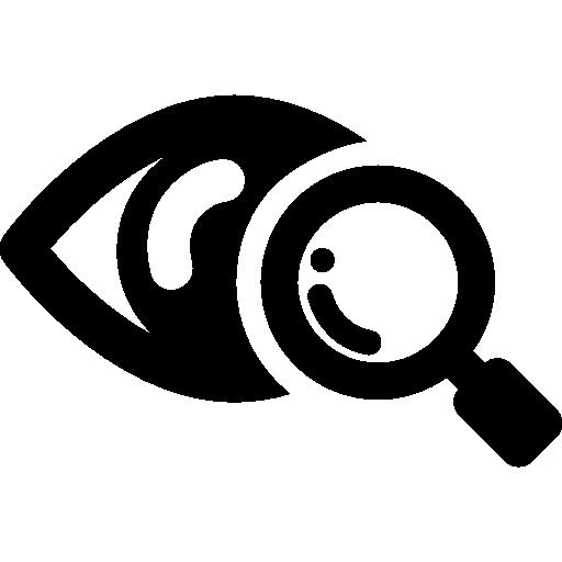 Eye scanner medical symbol  free icon