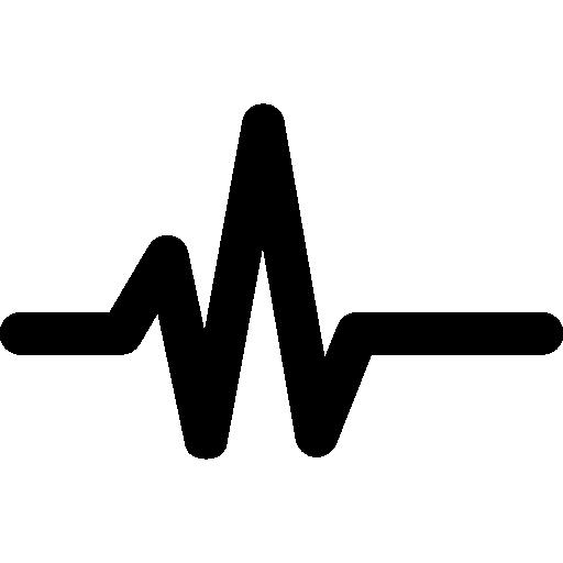 Pulse line  free icon