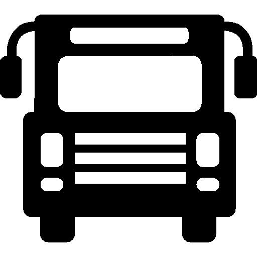 Bus front  free icon