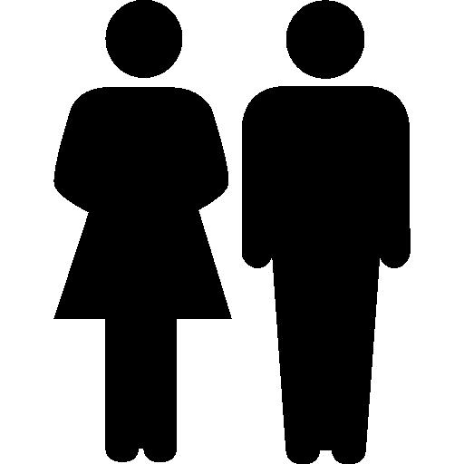 Family of heterosexual couple  free icon