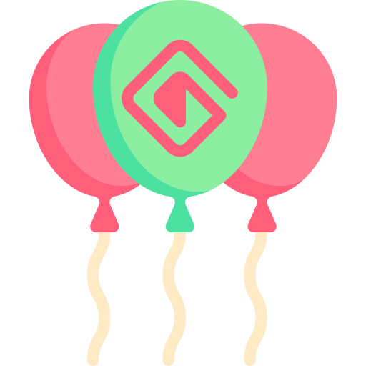 Balloons  free icon