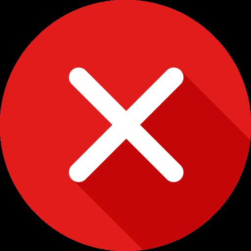 botão x  grátis ícone