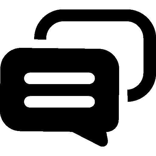 Talk bubbles  free icon