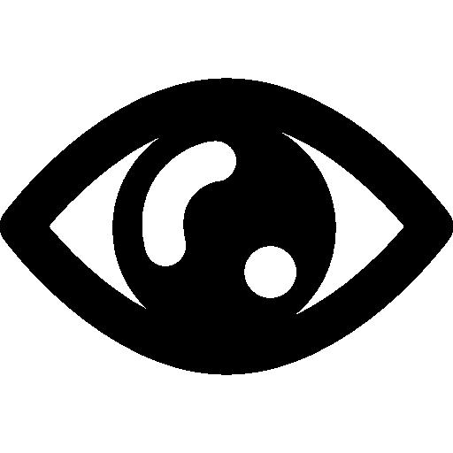 Human eye shape  free icon