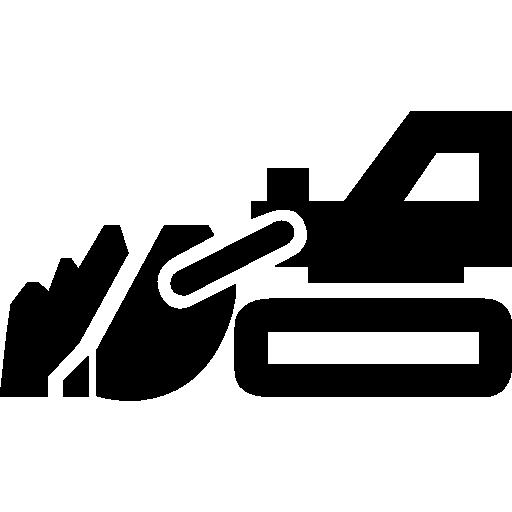 outil de construction de véhicule avec grande pelle  Icône gratuit