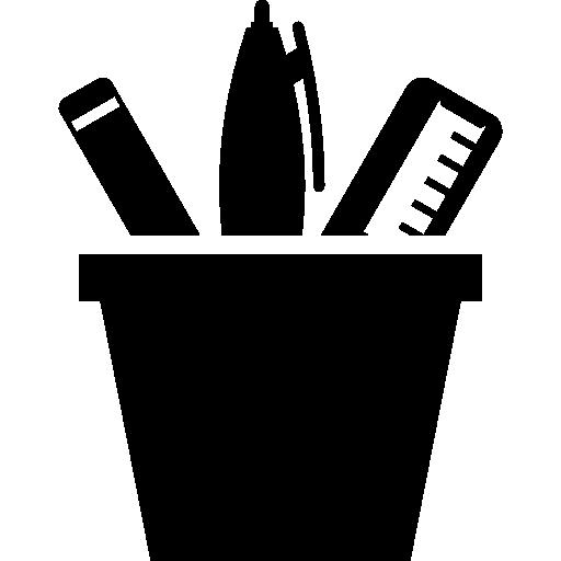 Контейнер для канцелярских принадлежностей  бесплатно иконка