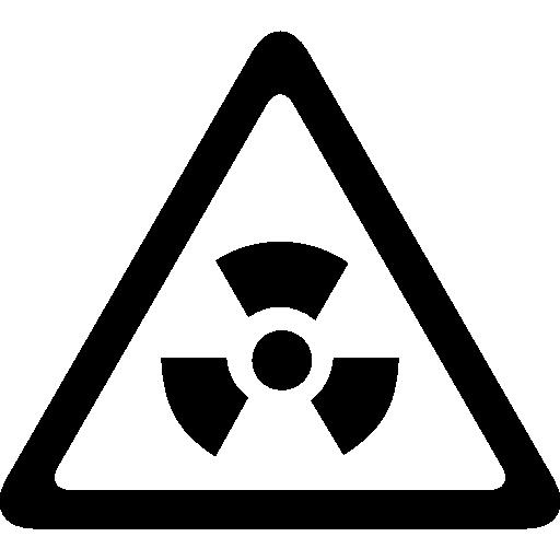sinal triangular de risco biológico  grátis ícone