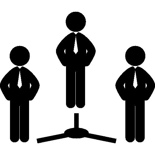 trois hommes d'affaires  Icône gratuit