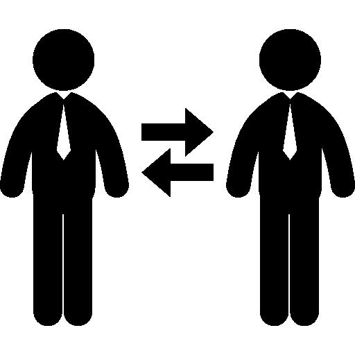 Échange d'hommes d'affaires  Icône gratuit