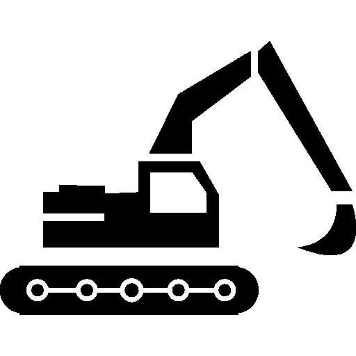 Construction excavator  free icon
