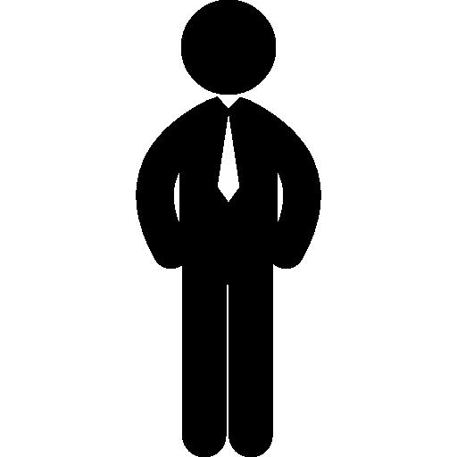 homem de negócios em pé com gravata  grátis ícone