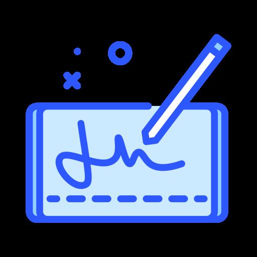 Digital signature  free icon