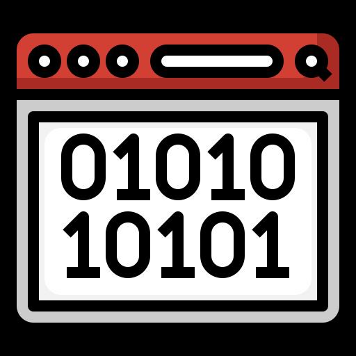 code binaire  Icône gratuit