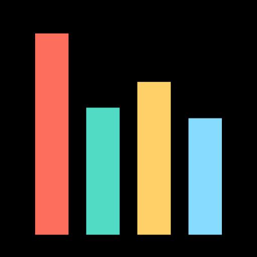 diagramme à bandes  Icône gratuit