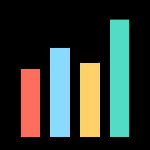 graphique à barres  Icône gratuit