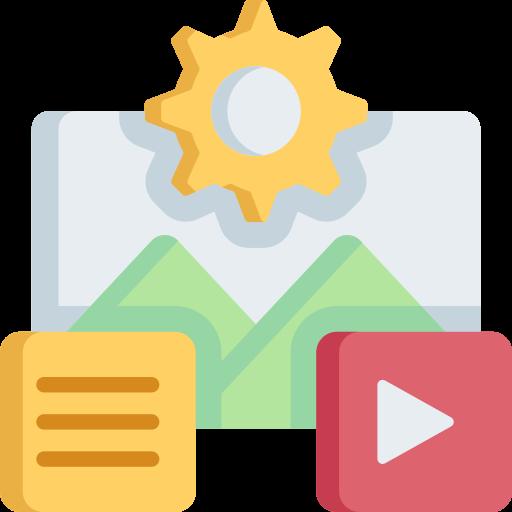gestion de contenu  Icône gratuit