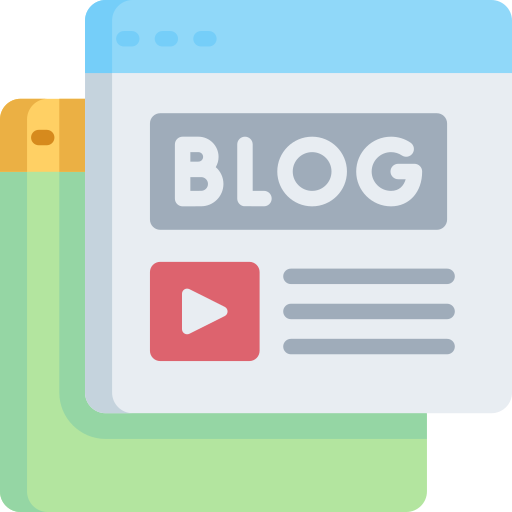 Blogging  free icon