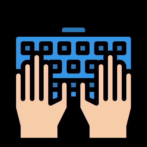 Typing  free icon