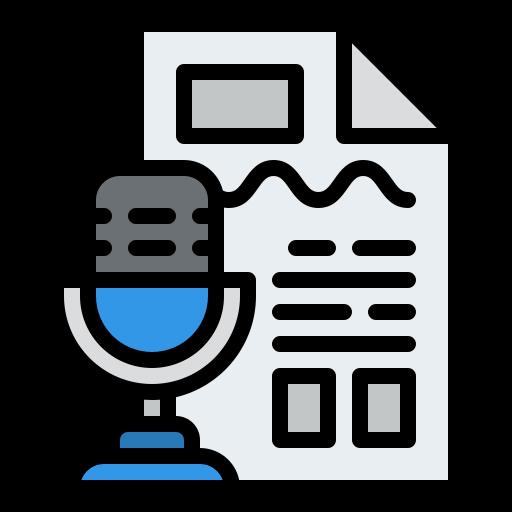 Transcript  free icon