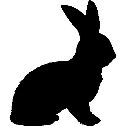 Rabbit shape  free icon
