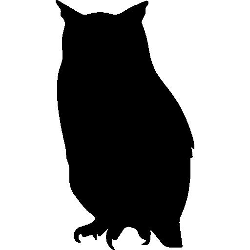 Owl bird shape  free icon