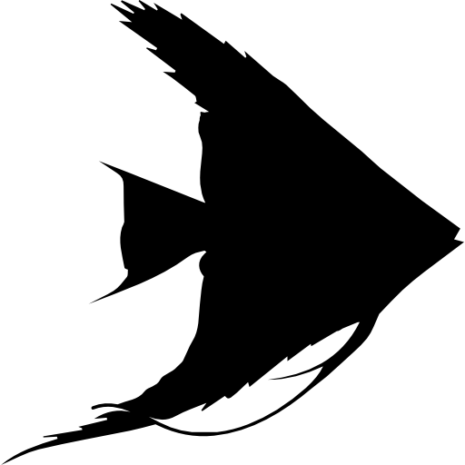 poisson de forme triangulaire  Icône gratuit