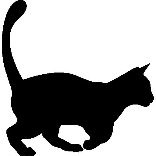Domestic cat shape  free icon