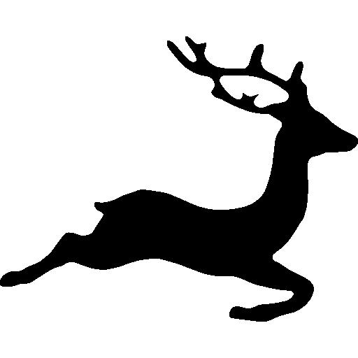 Deer shape  free icon