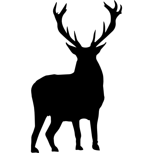 Deer silhouette  free icon